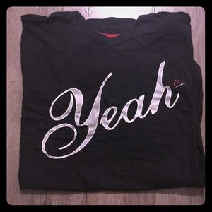 "Men's Large ""Yeah"" Black T-shirt"